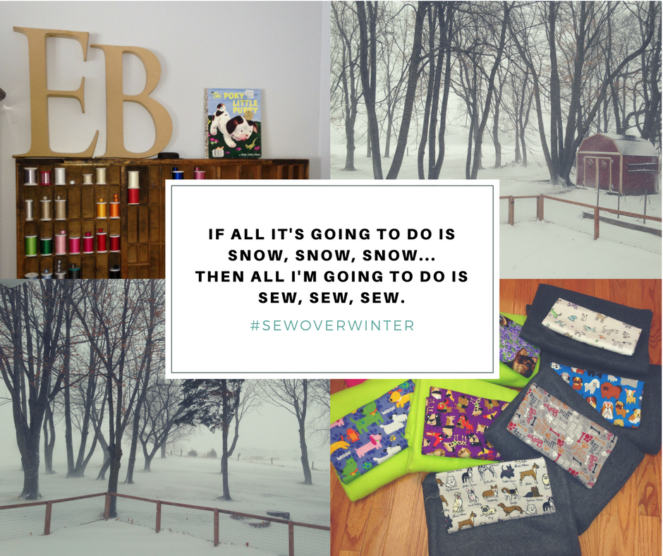 if all it's going to do is snow, snow, snow...Then all i'm going to do is sew, sew, sew.