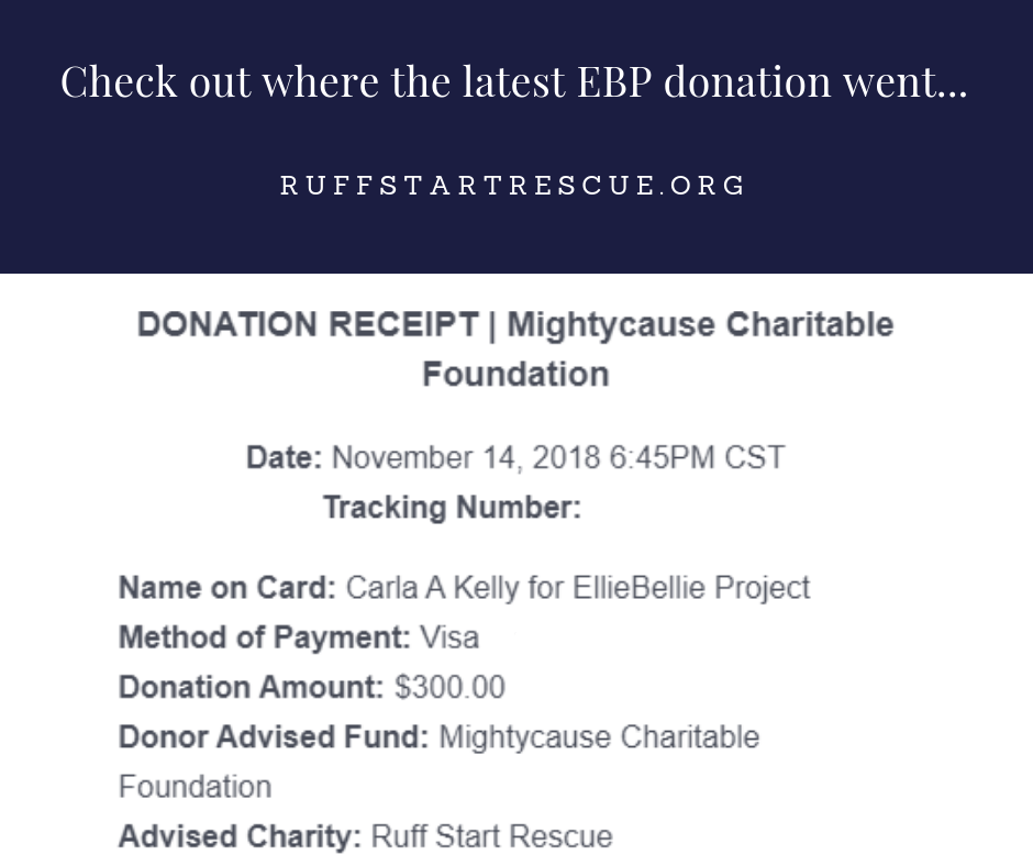 Check out where the latest EBP donation went
